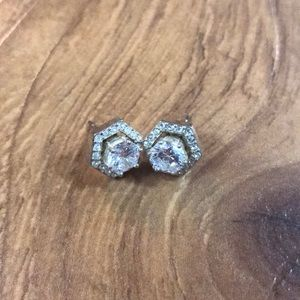 Origami owl silver earrings